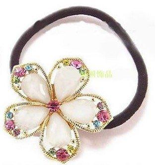 Golden Colorful shiny Rhinestone Flower Crystal Hair Clip Bow F1(China (Mainland))