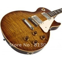 Musical instruments LP OEM 1959 R9 Tiger Flame Electric guitar luxury fin