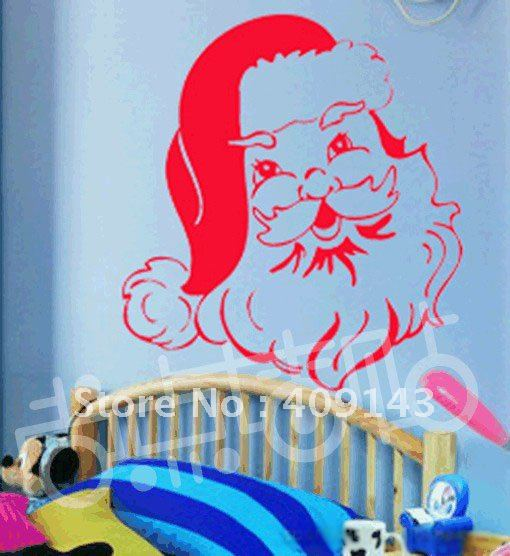 christmas father x mas best wishes vinly PVC window sticker DIY art drawing house room wall quote decal decoration(China (Mainland))