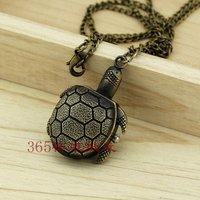 A079 Hot Sale Lovely Cartoon Small Tortoise Quartz Pocket Watch Ladies NECKLACE Xmas Gift