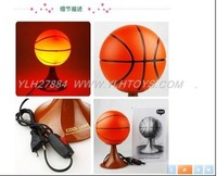 Free shipping---Round plug basketball table lamp