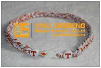 Hot Sale Fashion Handmade Braided 3 Rope NCAA Tennessee Volunteers Titanium Necklace For Men