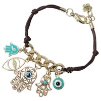 Wholesale vintage evil eyes & hamsa hand fashion handmade bracelet vintage retro antique jewelry free shipping 15pcs/lot