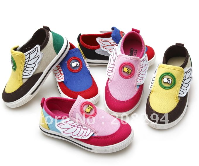 Spring and Autumn models of children&#39;s shoes, men and women, children&#39;s shoes, flying wings personalized canvas shoes(China (Mainland))