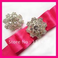 Wholesale! Free shipping (100pcs/lot) small silver crystal rhinestone flower wedding brooches
