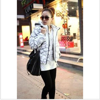 2046 2012 print fashion elegant down cotton-padded jacket winter clothes short design