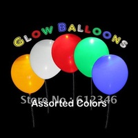 Mixed Colors LED Flashing Balloons Free Shipping 500pcs/lot