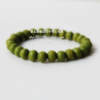 Reminisced Light green 7mm wood bead bracelet diy popular 3