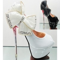 Women's shoes sandals japanned leather red sole shoes 14cm ultra high heels platform white wedding shoes open toe shoe