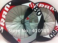 EMS free shipping SRAM S80 Light  wheels /Front or rear wheels/ 88mm rim tubular/ clincher Full Carbon 700C road bike wheels