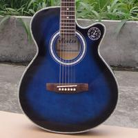 Wholesale OEM 40 blue acoustic guitar set guitar musical instruments jita nylongtr ericaceae