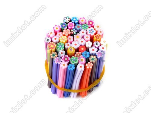 Free Shipping 150PCS New Design Nail Art Fimo Canes Rods Polymer Stick DIY 3D Stickers Tips(China (Mainland))