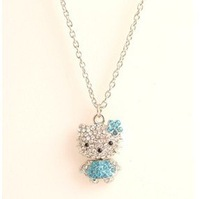 Fashion Metal Necklace Hello Kitty Pendant Cute  Neckalce YWJR1378