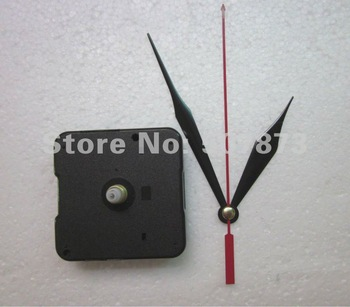 Wholesale and Retail 5PCS/lot Quartz Clock Movement Kit Spindle Mechanism shaft 12mm with hands BJ017