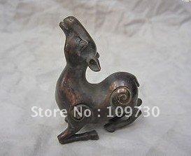 Chinese Zodiac Pure Bronze Sheep Lamb Auspicious Animal Statue Figurine ee0016 free ship