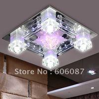 Modern living room ceiling rectangle led crystal lighting bedroom pendant light