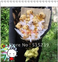 Christmas gift cartoon bear doll bouquet creative couple gift wholesale new Wedding Bouquet/birthday gift+free shipping X4