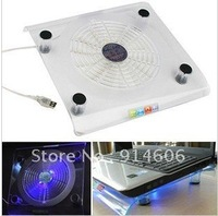 Transparent crystal blue big fan notebook radiator notebook cooling base B261