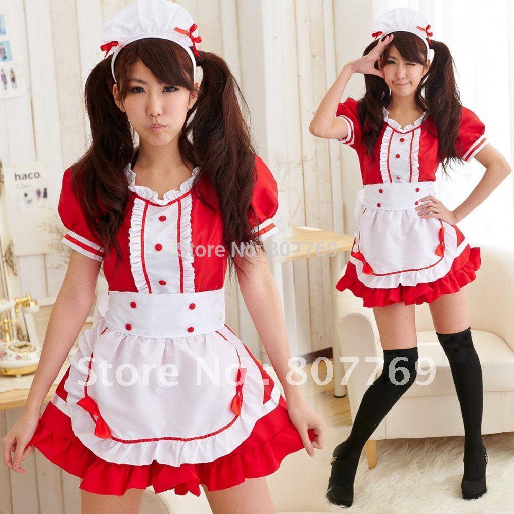 Diner Uniform Costume Diner Waitress Costume Red