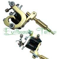 Free Shipping New Design Stainless Steel Mini Tattoo Machine Gun  supply Golden