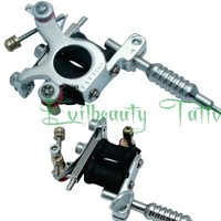 Free Shipping PRO Cute Stainless Steel Mini Tattoo Machine Gun supply for nacklace