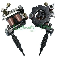 New Beautiful Mini Black Plated Tattoo Machine  gun  Pendent Jewelery Leather Chain