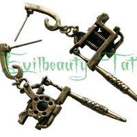 Free Shipping PRO Cute Stainless Steel Mini Tattoo Machine Gun Silver