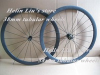 Only 1160g Ultra light 38mm tubular bike wheelset 700C carbon fibre road bicycle wheels
