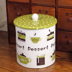 Dessert pot biscuits snacks miscellaneously storage tin pehcans zakka storage tank(China (Mainland))