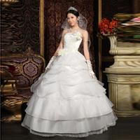 The bride wedding dress formal dress 2012 wedding vintage sexy tube top sweet elegant wedding dress 1297