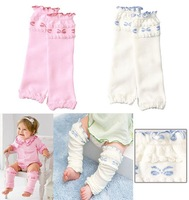 Bows Baby Leg Warmers Children Socks Lace Multi-function Knee Protecting Cotton + Spandex 30 pairs/lot