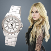 Wholesale New Fashion Round Dial Decoration Wrist Watch for woman ROSRA -black