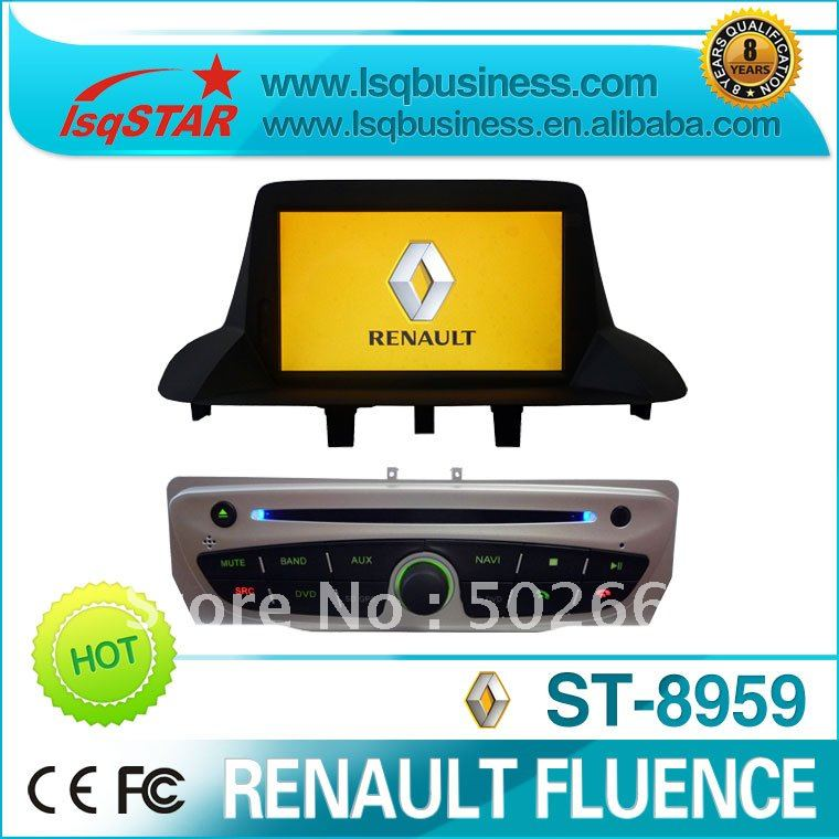 Renault Fluence/ Megane 3 Car DVD GPS Radio TV iPod BT 6 CDC PIP 3G usb..(China (Mainland))