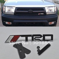 New TRD logo Chrome Metal 3D Grill Badge Grille Emblem For Toyota Camry Scion tC