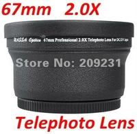 Free shipping 67mm 2.0X Telephoto Lens for Nikon 18-105 Canon 18-135