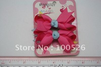 Grosgrain Ribbon Solid Colour Hairbow For Kids Hair Accessory