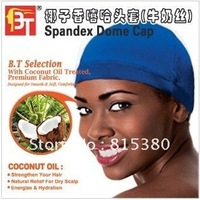 2012 new women fashion personality Coconut fragrance hip-hop cap Spandex Dome Cap    Color box packaging