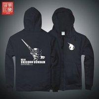 dota Mobile Suit Gundam UC Unicorn anime men's hooded cardigan, sweater zipper clothes jacket