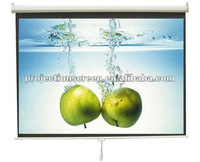 "72""  Manual screen, auto lock with hand pull down, 1.1 gain, high quality, Thicker matte white"