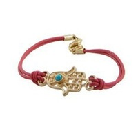 Free Shipping Wholesale vintage colorful hamsa hands weave bracelet 5 colors  retro  antique jewelry Christmas Gift  15pcs/lot