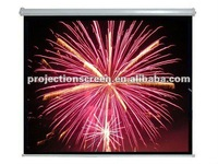 "120""  Manual screen, auto lock with hand pull down, 1.1 gain, high quality, Thicker matte white"