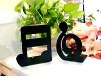 free shipping Music stationery notes iron bookend book ends 9.9 single