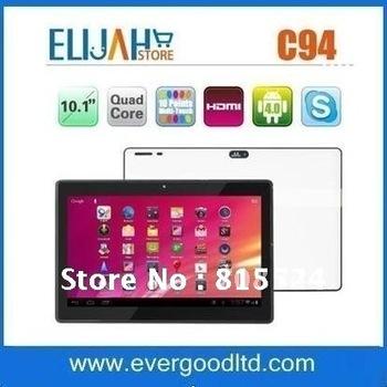 Free Shipping 10.1''  Zenithink C94 Quad Core Tablet PC Freescale IMX6Q 1.2GHz Cortex A9 1GB RAM 8GB Dual Camera 2MP