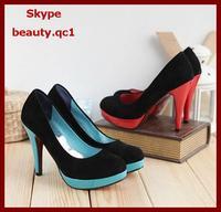 Туфли на высоком каблуке Hi heel shoes. Women's OL high heel shoes, pointed toe, plarform, for working, classics style, retail or