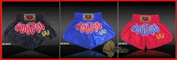 Free Shipping Muay Thai Boxing MMA Sanda Shorts Trunks Size M-XXXL Colour Black / Blue / Red (U020) !!