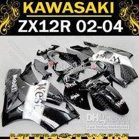 Blace WEST Fairing for 2002 2003 2004 Kawasaki ninja ZX-12R 02-04 ZX12R 02 03 04 ZX 12R +windscreen