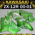 Pure Green fairing for Kawasaki ninja ZX-12R 00-01 ZX12R 00 01 ZX 12R 2000 2001 +windscreen EMS Free