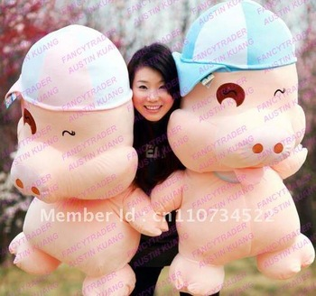 """Top Selling Giant Stuffed McDull Pig 59"""" /150 cm !!  FT90077"""