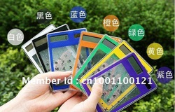FreeShipping ultrathin calculator solar calculator new exotic products transparent calculator(China (Mainland))