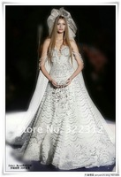 Zuhair Murad Haute Couture 2013 New Fashion Organza Full Shining Sequins and Pearls Gorgeous Modest Wedding Dress Bridal Gown
